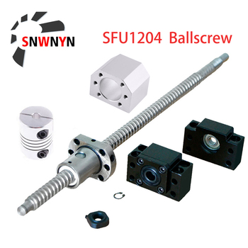 цена на SFU1204 Set: RM1204 Rolled Ball Screw C7 With End Machined+1204 Ball Nut + Nut Housing+BK/BF10 End Support+Coupler For CNC Parts
