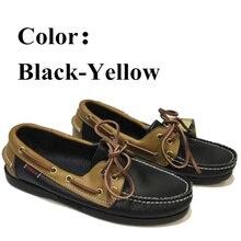 Men Genuine Leather Docksides Boat Shoes,Men Designer Sneake