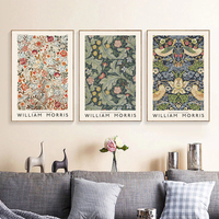 Póster de Exposición de museo William Morris, pintura en lienzo, arte de pared, impresiones Vintage, imágenes para sala de estar, decoración del hogar