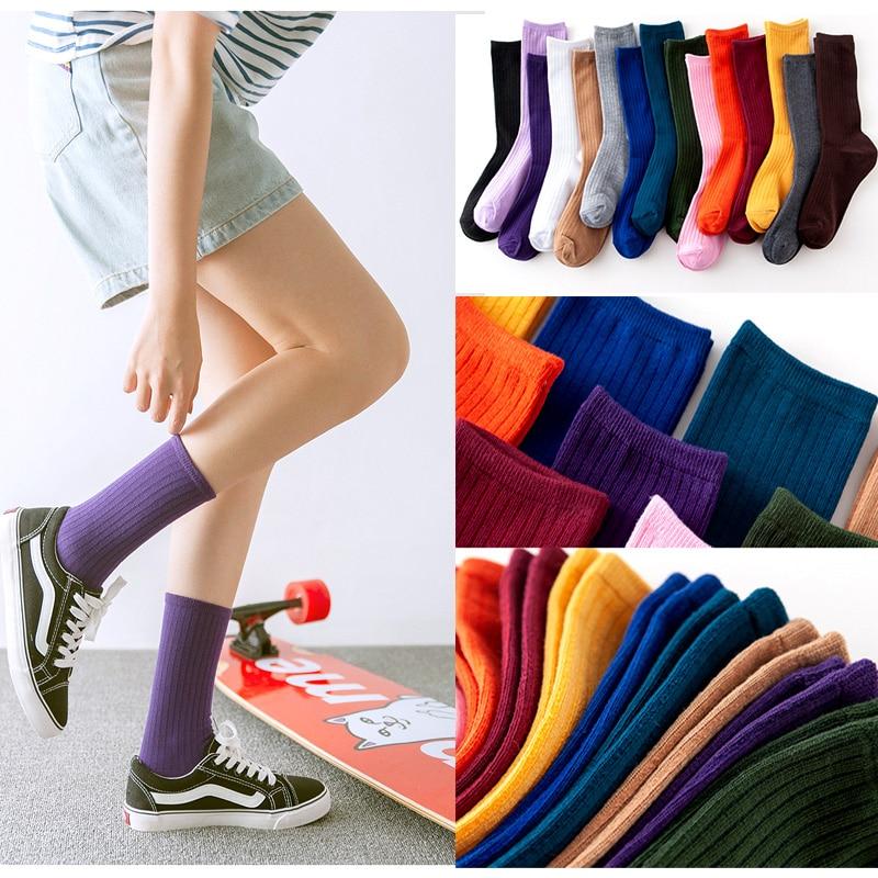 Women Loose Socks Harajuku Japanese Cotton Sock Streetwear High Quality Fashion Christmas Gifts For Women 3pair/lot 15