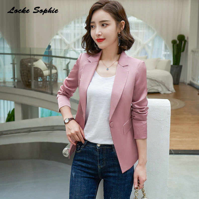 Women's Plus Size Blazers Coats 2019 Winter Cotton Blend Splicing Small Suits Jackets Ladies Skinny Office Blazers Suits Coats