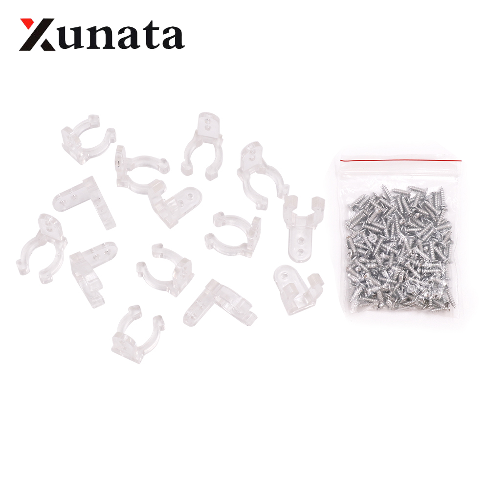 100pcs 14mm LED Strip Clips For 110V 220V 2835 Neon Light Plastic Buckle High Quality Flexible Accessories