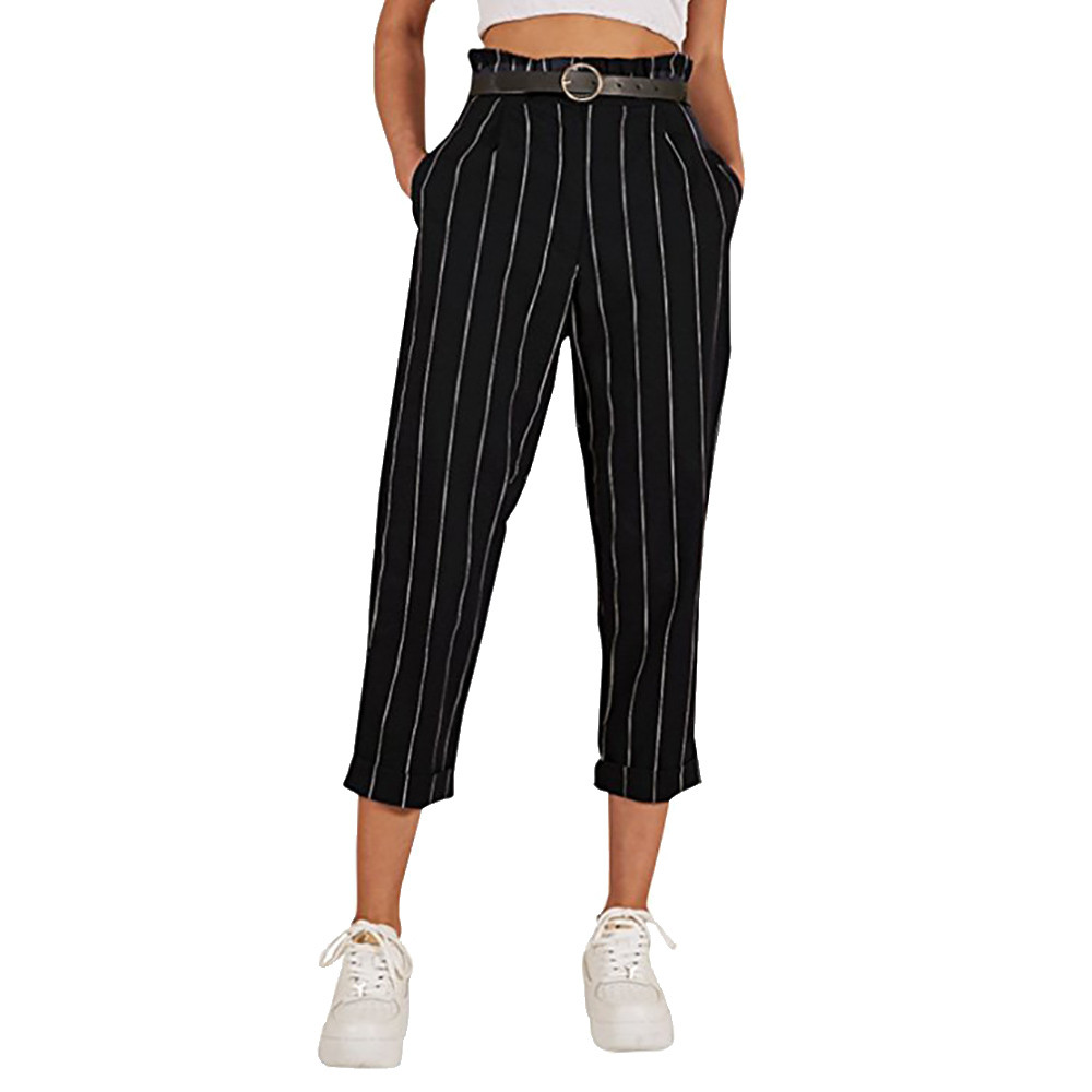 Womens Trousers Stripe Womens Trousers Casual Pants Womens Pants High Waisted Korean Harajuku Pants Baggy Pants Women #35