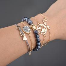 Многослойные браслеты в стиле хип хоп с кристаллами shixin для