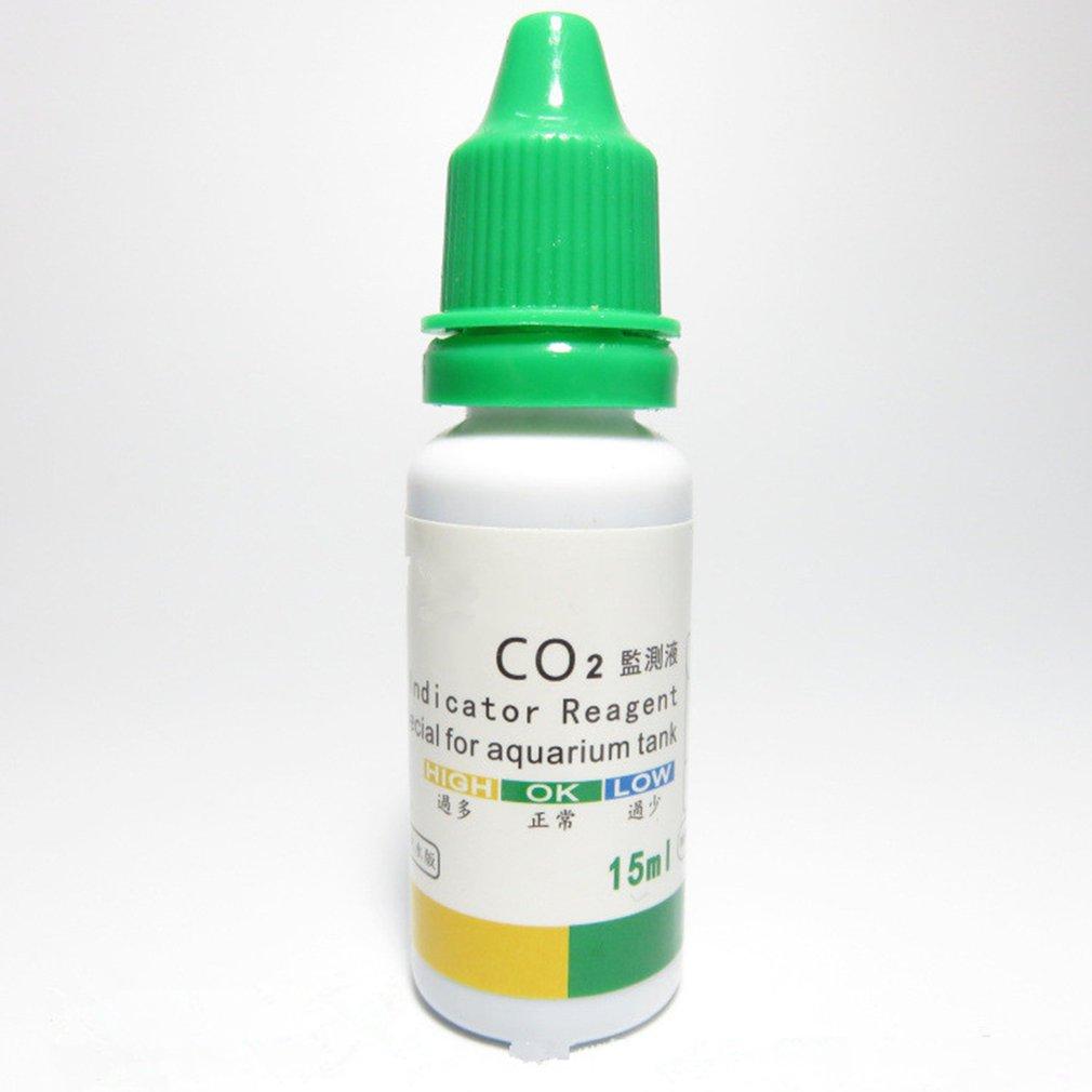 Aquarium Water Tank CO2 Indicator Solution Detection Solution Fish Tank Liquid Test Plants Long Term Aquarium CO2 Indicator