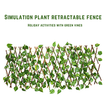 Gardening-Plant-Decor Expandable Privacy Fence Faux-Ivy Vines Climbing-Frame Garden Trellis