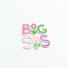 Новинка! 43 мм * 40 мм 10 шт./лот полностью эмалированные Подвески BIG SIS /Big Sister для крупного детского ожерелья