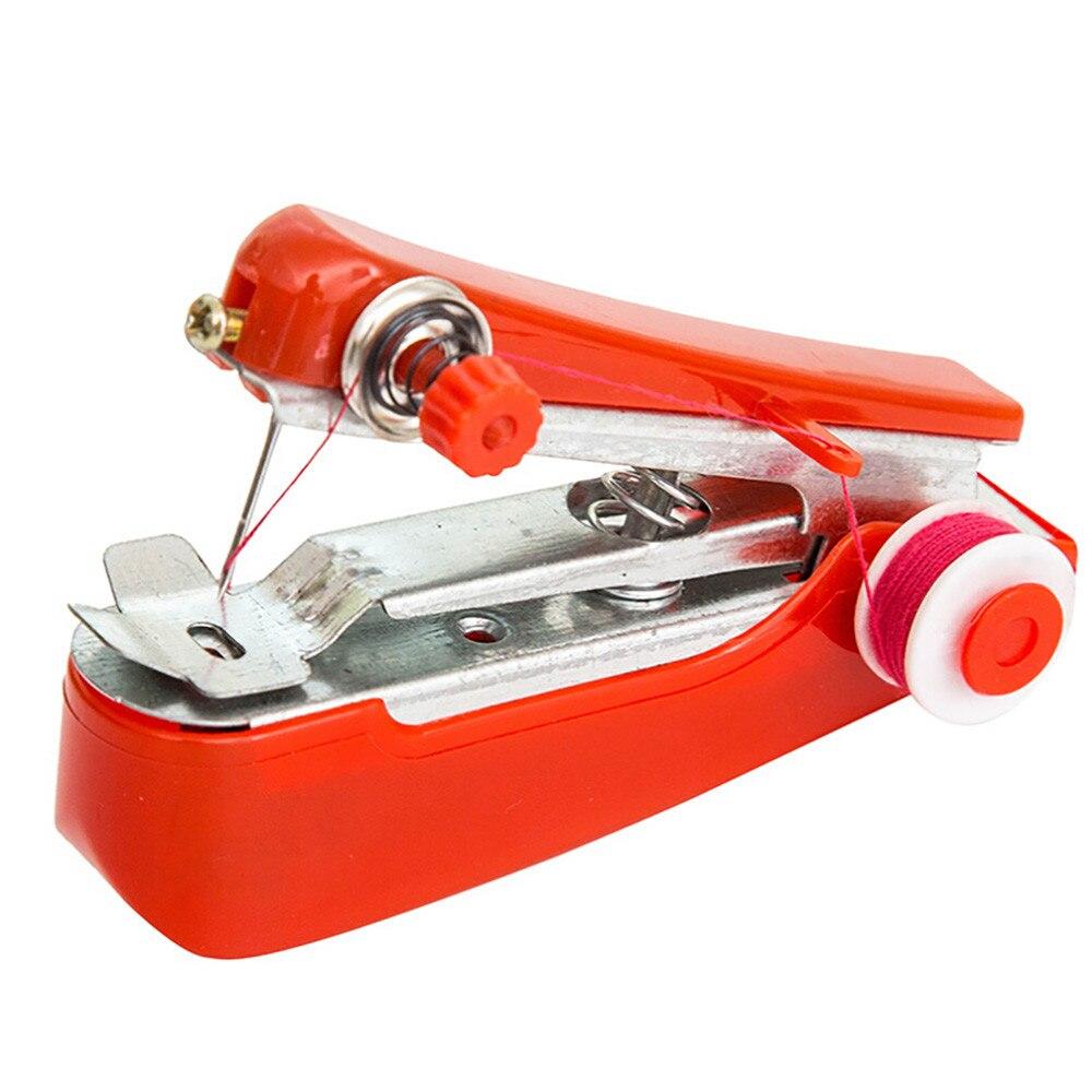 1 шт. Горячая мини Портативная рукоделие Беспроводная мини ручная одежда ткани швейная машина швейные инструменты L* 5