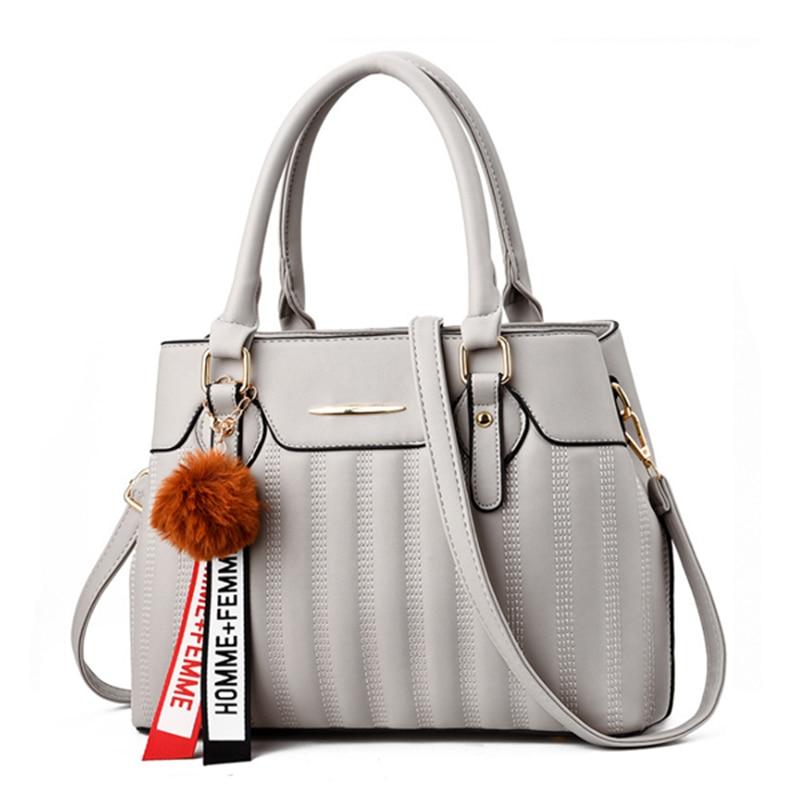 Women Handbag Tassel Ladies Messenger Bags Designer Classic Pu Leather Designer Inspired Luxury Handbags Casual Bag Sac A Main in Shoulder Bags from Luggage Bags