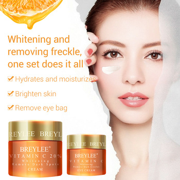 BREYLEE Vitamin C Whitening Eye Cream Face Cream Set Firming Remove Dark Circle Freckle Moisturizing Anti-Wrinkle Face Skin Care недорого