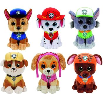 Zwierzęta łapa Patrol pluszowy pies zabawka 15cm tanie i dobre opinie PAW PATROL CN (pochodzenie) Tv movie postaci COTTON 3 lat Genius z psem Lalka pluszowa nano Miękkie i pluszowe Unisex
