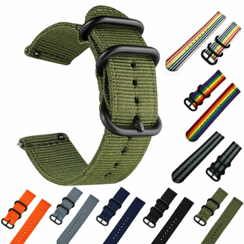 watch 46mm for Gear S3 galaxy watch 42mm  huawei watch Gt Nato Strap 22mm watch band Bracelet strap 24mm nylon Colorful stripe for suunto core nylon diver watch strap band kit w lugs 5 ring pdv clasp 20 22 24mm zulu for nato g10 tools