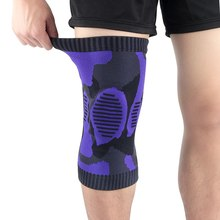 1pc Knie Pad Sleeve Compression Gestrickte Bein Unterstützung Patella Outdoor Gym Gewichtheben Basketball Fitness Sportswear EIN(China)