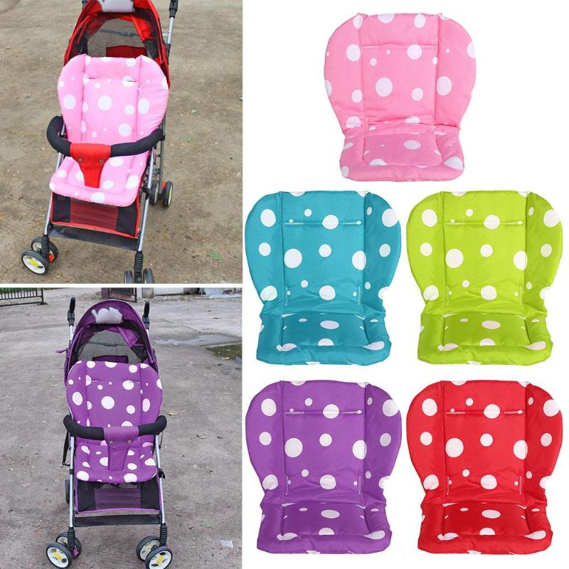 Baby Seat Liner Thickened Dots Print Seat Cushion Stroller  Soft Mattresses Toddler Infant Carriages Seat Pad Baby Car Seat Acc