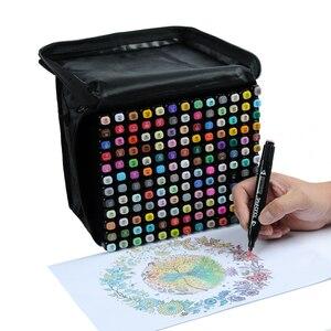 Image 2 - TOUCHFIVE 24/30/40/60/80 צבעים כפול בראשות אמנות סמני סט מבוסס אלכוהול סמני ציור עט מנגה סקיצה מרקר עטי עיצוב