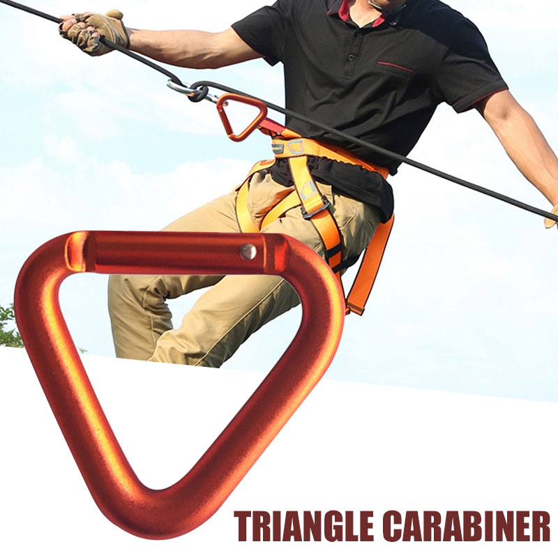 Outdoors Carabiner Mountaineering Buckle Parachute Orange Aluminum Alloy Outdoor Survival Travel Climbing Buckle Camp