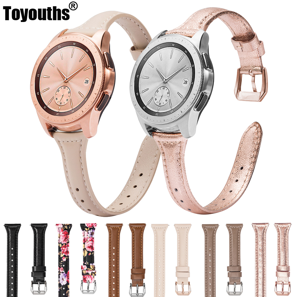 Fashion Leather Strap For Samsung Galaxy Watch 42mm 46mm Band Genuine Leather Replacement Strap For Galaxy Watch Active2