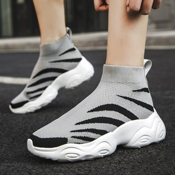 MWY Breathable Ankle Boot Women Socks Shoes Female Sneakers Casual Elasticity Wedge Platform Shoes zapatillas Mujer Soft Sole 19