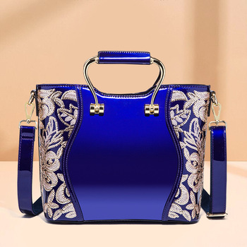 2020 New Patent Leather Sequins Fashion Portable Cross-Body Women's Bag