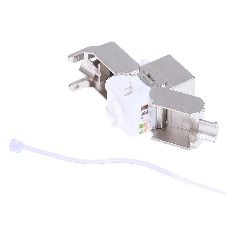 Keystone Cat6A Экранированный FTP металлический модуль сетевой Keystone Jack коннектор адаптер