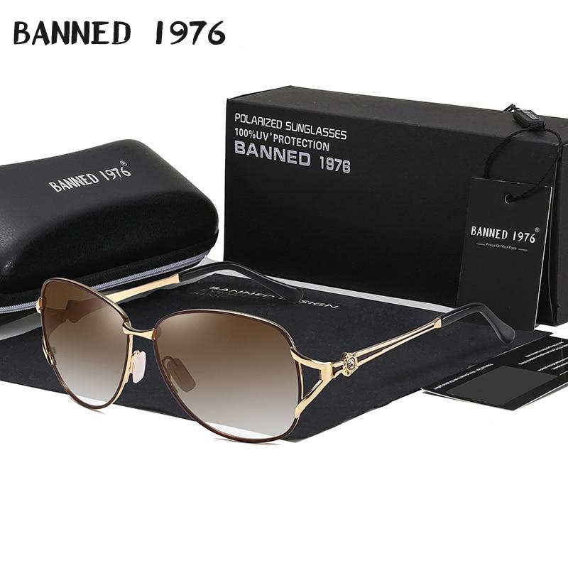 HD Polarized Fashion Driving Sunglasses Metal Frame Luxury Trend Women's Latest New Sun Glasses Ladies Oculos Lunette De Soleil