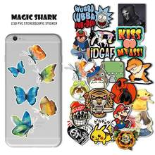 Magic Shark 3M Vlinder Konijn Naruto Mario Pikachu Pokemon Sticker Film voor IQOS Smok Vaporesso Vape Pod iPhone iPad muis(China)