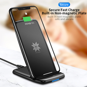 Image 3 - حامل شاحن لاسلكي طراز ROCK W3 Pro مع مروحة تبريد لهاتف iPhone 11 X Max XS XR سامسونج s10 S9 S8 Plus S7 Note 9 حامل 7.5 واط/10 واط