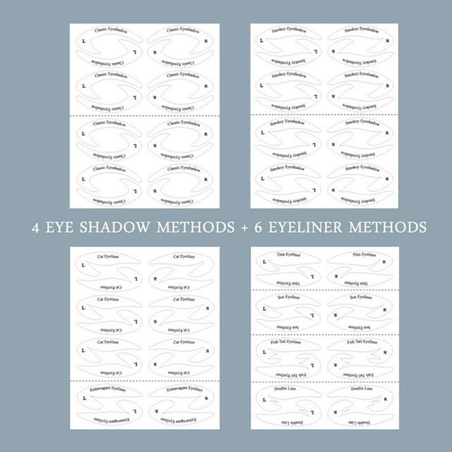 Professional Eye Makeup Fast Eyeliner Eye Shadow Makeup Drawing Liner Stencils Stickers Adhesive Tips Model Eye Makeup Tool 5