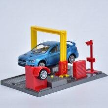 Novo 1:32 corrida carro reparação estação brinquedo conjunto cena elevador modelo de brinquedo simulação do veículo loja de reparo do carro crianças presente coleção ct0175
