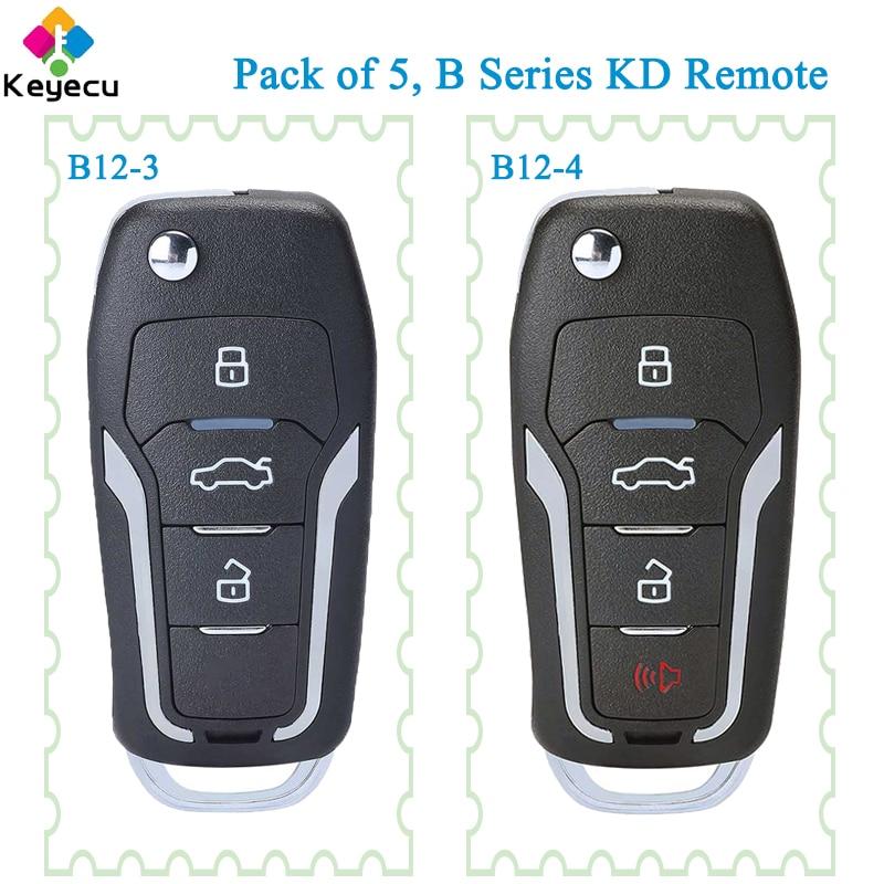KEYECU 5 шт. KEYDIY для Ford Style Универсальная Серия B KD дистанционный Автомобильный ключ B12-3 B12-4 поддерживается KD900 KD900 + URG200 KD-X2