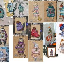 Набор для вышивки крестом, животные, хлопок, нить, любовь, замок, холст, вышивка, кофе, питьевое животное, серия, свитер, животное