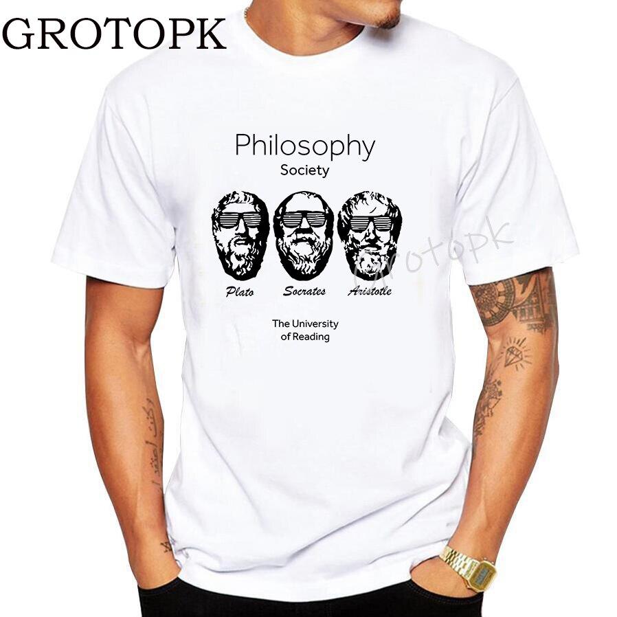 Men Cool T Shirt Socrates Plato Aristotle TSHIRT Unisex Greek Philosophy Geek Sigmund Freud Funny O-Neck Hip Hop T-Shirts Homme