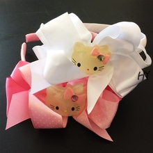 1 Pcs/lot Hand Made Grosgrain Hair Band Hairbands For Children Cute Ribbons Bands Girl Accessories
