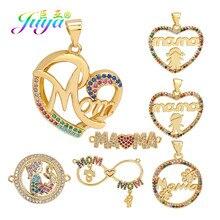Juya – bijoux de famille en or, fournitures de bricolage, breloques en lettres pour maman garçon et fille, pour la fabrication de bracelets et de colliers