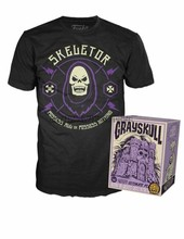 POP Tees Skeletor in Castle 그레이 스컬 Playset Box Funko Shop 독점적 인 500 PCS(China)