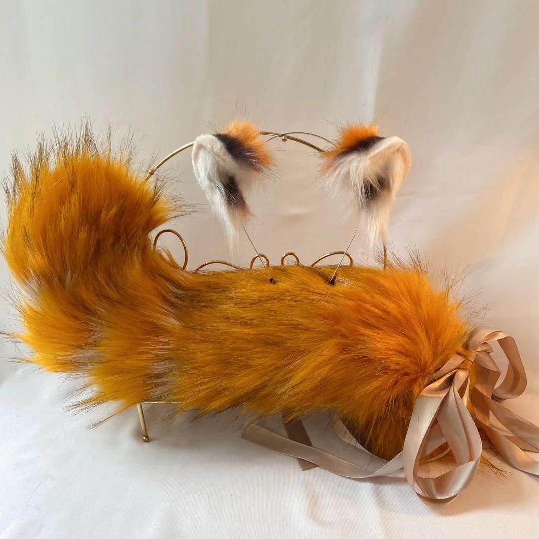 Neue Hand Made Ailurus fulgens Ohren Stirnband Hairhoop Hairbands Headwear DIY Panda Für Mädchen Weibliche Spiel Party Kostüm