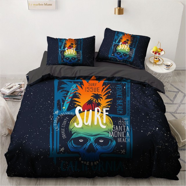 3D COOL SKULL BEDDING SETS
