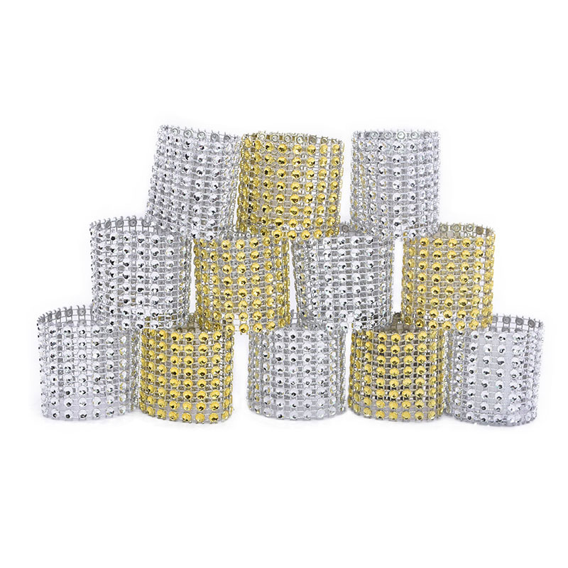 10pcs/lot Napkin Ring Chairs Buckles Multicolor Wedding Event Decoration Crafts Rhinestone Bows Holder Handmade Party Supplies