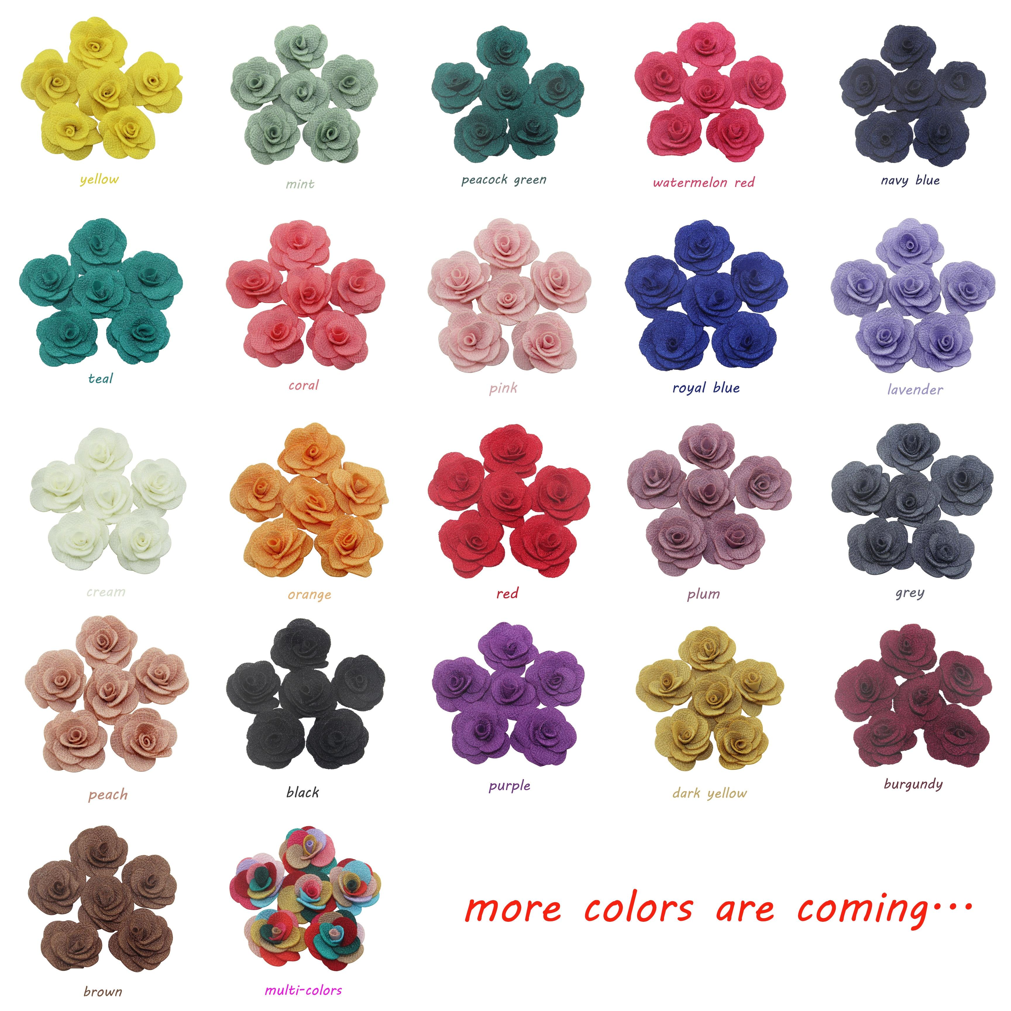 Fashion Camellia Flower Button Flatback Acrylic Handcraft Supplies Diy 10pcs//lot