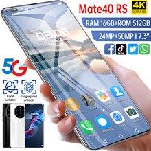 Mate40 RS 2021-teléfono inteligente 5G, versión Global, 16G, 512G, Android 10, desbloqueado, 6800mAh, 50MP, teléfono móvil con doble SIM