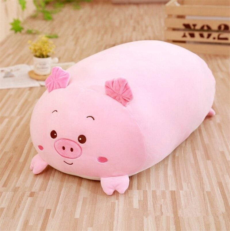 30CM 부드러운 동물 만화 베개 쿠션 귀여운 뚱뚱한 개 고양이 펭귄 돼지 개구리 플러시 장난감 사랑스러운 아이 생일 선물 박제