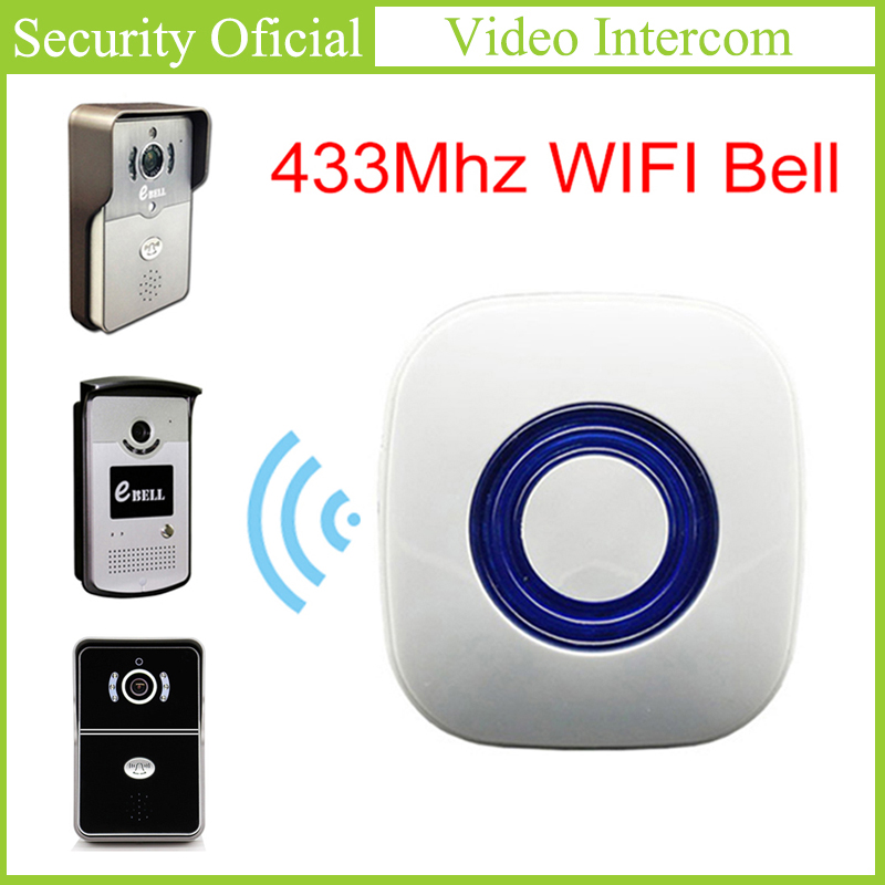 WIFI Doorbell 433MHz Learning Code EBELL Home Wireless Indoor Dingdong Chime Matching For ATZ DBV01P/3P/4P-433Mhz Video Intercom