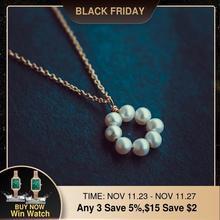 Naszyjnik z pereł złoty wypełniony Chocker biżuteria w stylu Vintage minimalizm naszyjnik charms Bijoux Femme Boho naszyjnik dla kobiet Collier