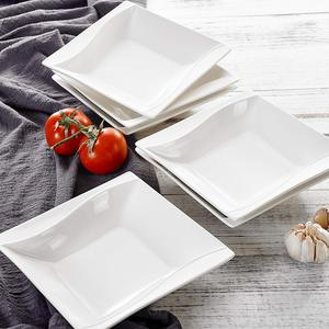 "Image 5 - MALACASA Carina 6 Piece 8"" Cream White Porcelain Ceramic Deep Kitchen Dinner Plates Soup Plates Salad Fruit Dishes"