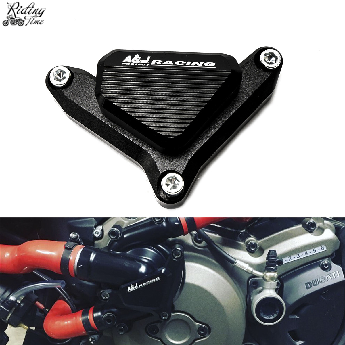 Motorcycle Water Pump Protector Slider Guard Cover For Ducati Monster 821 Monster 1200 Monster 1200S Hypermotard 939