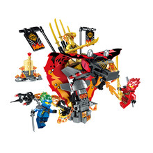 2019 New Ninja Series Fire Fang Compatible With Legoinglys Ninjagoes Model Building Blocks Brick Toy Christmas Gift For Children(China)