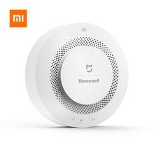 Detector de alarma de incendio de Xiaomi Mijia Honeywell Original Control remoto alarma Visual Audible trabajo con mi aplicación para hogares