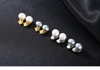 S925 Sterling Silver Earrings Pearl Fashion Simple Women's Earrings LSF04