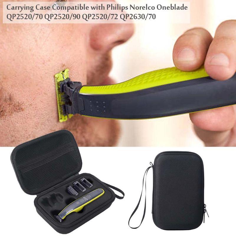 Carrying Case Zipper Pouch EVA TravelBag For Philips Norelco Oneblade QP2520/70 QP2520/90 QP2520/72 QP2630/70 Shaver
