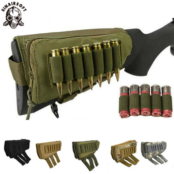 Tactical Muti-functional Hunting Zipper Rifle Buttstock Pack Bag Cheek Pad Rest Shell Mag Ammo Pouch Pocket Magazine Bandolier - discount item  20% OFF Hunting